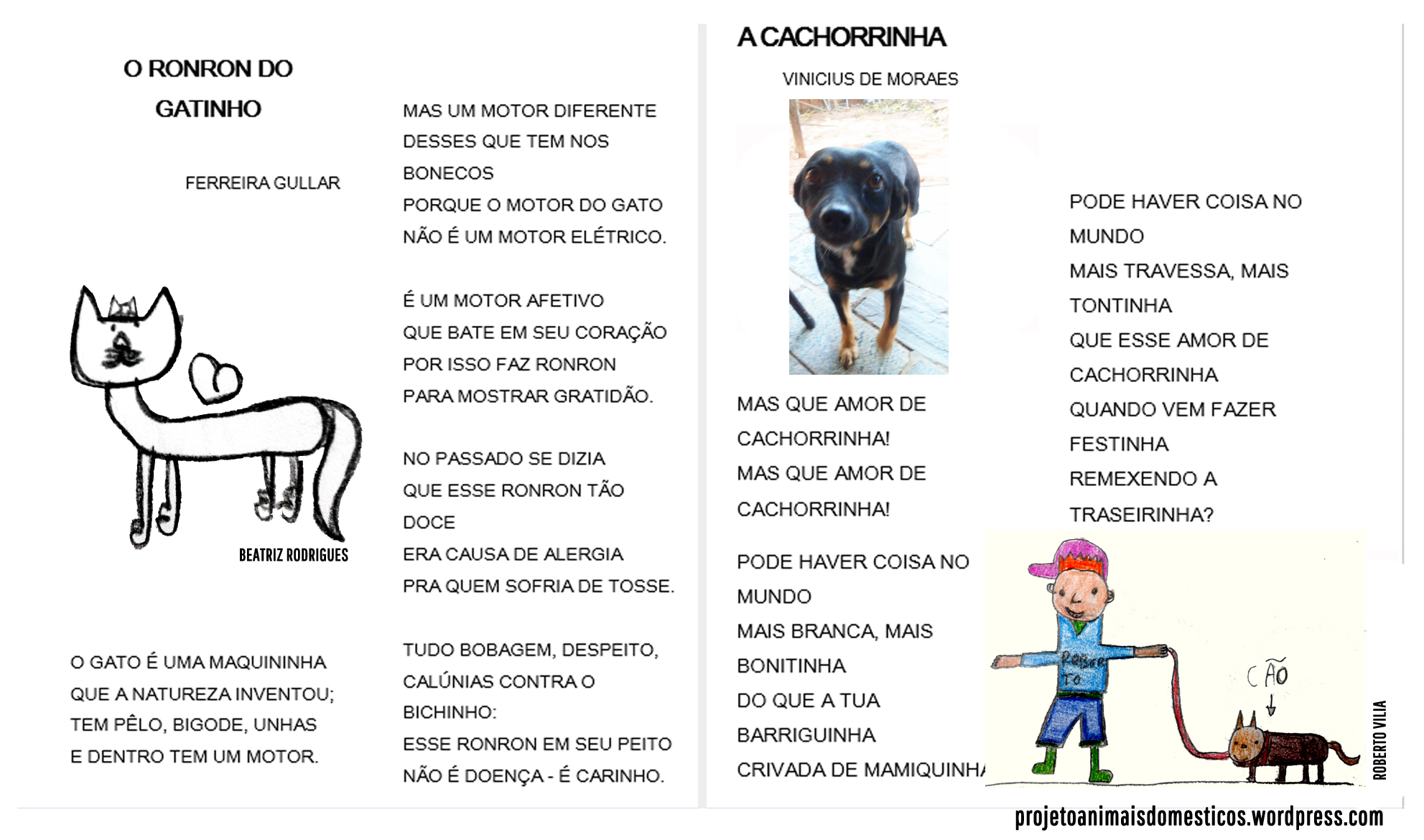 Well-known Poemas | Projeto Animais Domésticos VW35